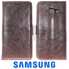 Samsung A5 2017,  Leather Wallet Case, Color Brown.