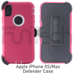 Apple iPhone XS Max, Defender Case, Color Pink.
