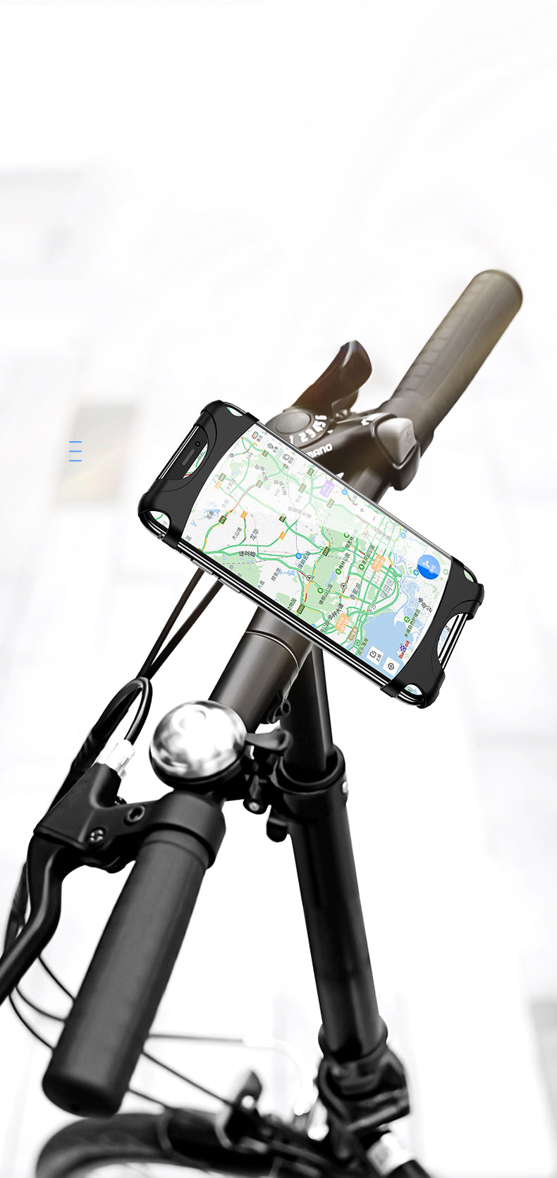 USAMS US-ZJ053 Bicycle Silicone Support Stand Mobile Phone Bracket
