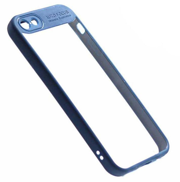 Auto Focus iPhone 5 5s SE phone case blue