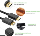 Display port male-to-male cable