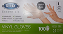 DLUX Essential Vinyl Protective Gloves (Pack of 100 individual gloves)