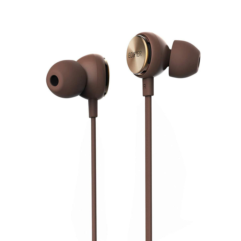 Edifier P293 Plus Earbuds with remote and mic - Brown