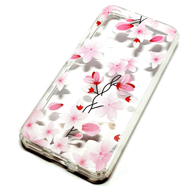 Huawei Nova 5T decorative clear transparent phone case flowers
