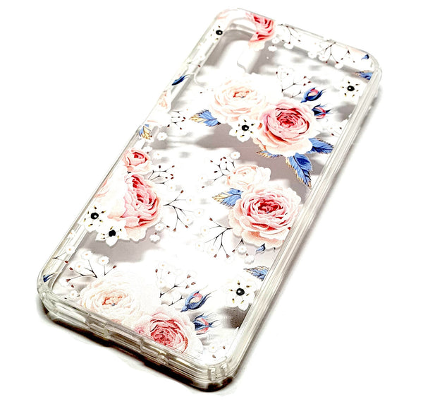 Huawei Nova 5T decorative clear transparent phone case roses