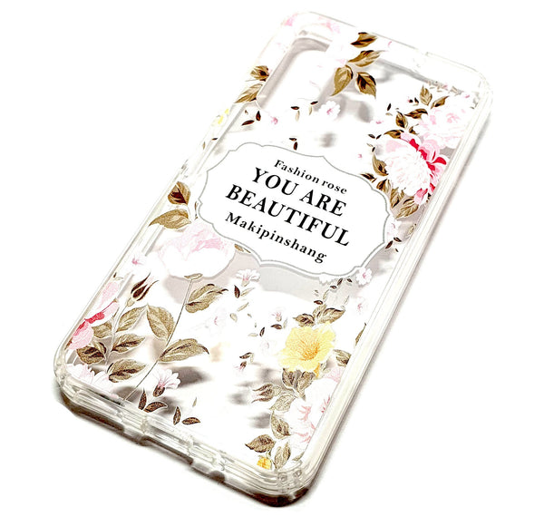 Huawei Nova 5T decorative clear transparent phone case you are beautiful