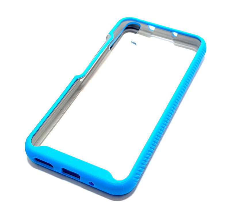 Huawei Nova 5T Shockproof blue clear transparent phone case