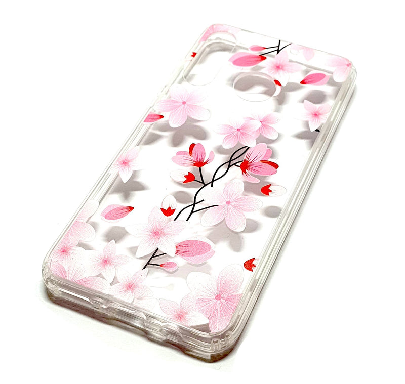 Huawei P Smart 2019 decorative clear transparent phone case flowers