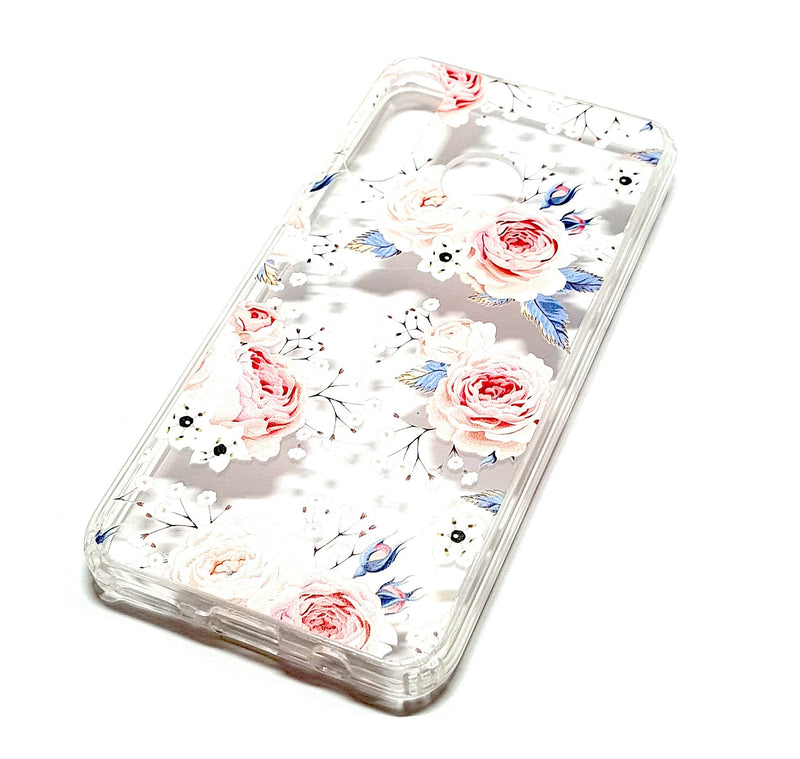 Huawei P Smart 2019 decorative clear transparent phone case roses