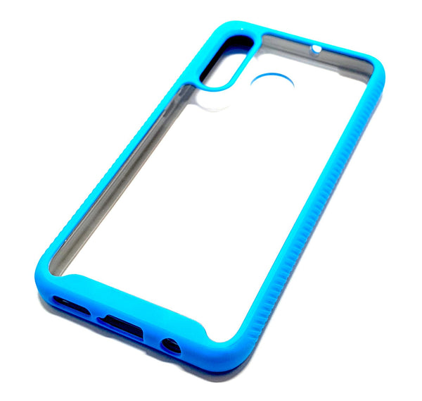 Huawei P Smart Z Shockproof blue clear transparent phone case