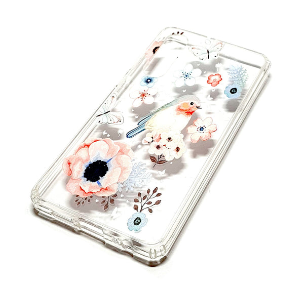 Huawei P30 decorative clear transparent phone case robin