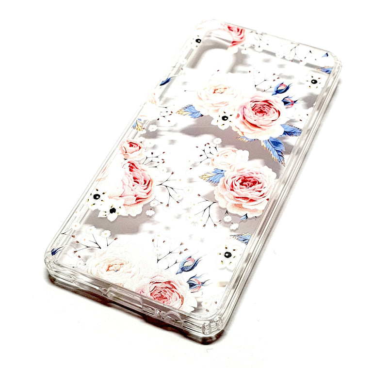 Huawei P30 decorative clear transparent phone case roses