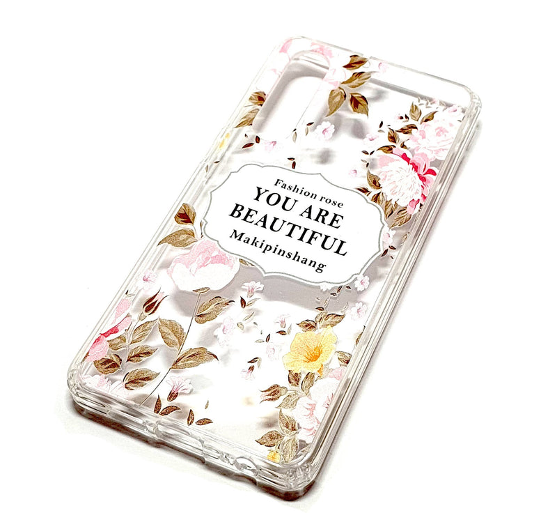 Huawei P30 decorative clear transparent phone case you are beautiful