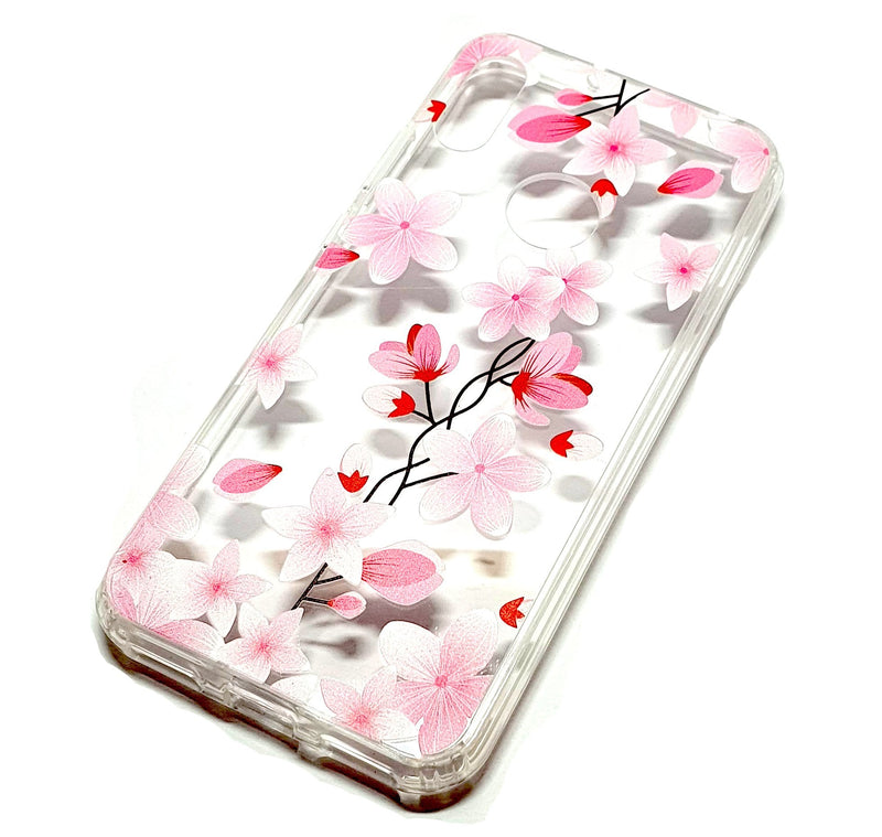 Huawei Y6 2019 decorative clear transparent phone case flowers