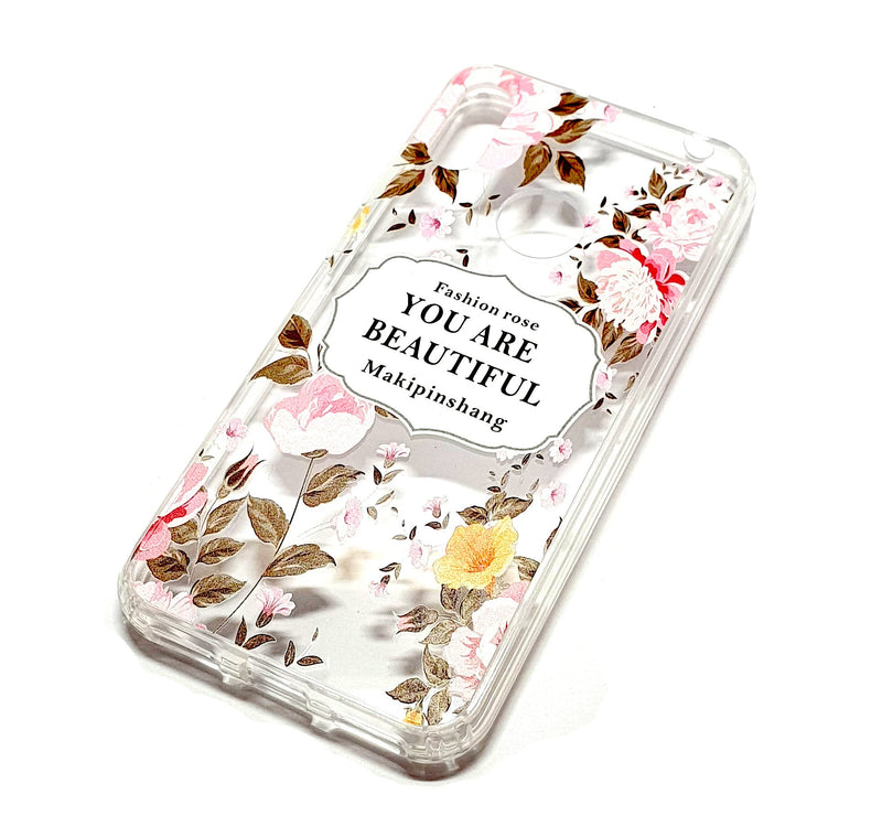 Huawei Y6 2019 decorative clear transparent phone case you are beautiful