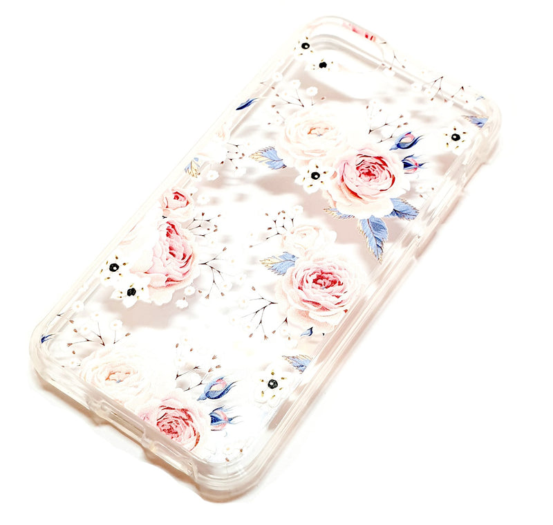 iPhone 6 6s 7 8 decorative clear transparent phone case roses