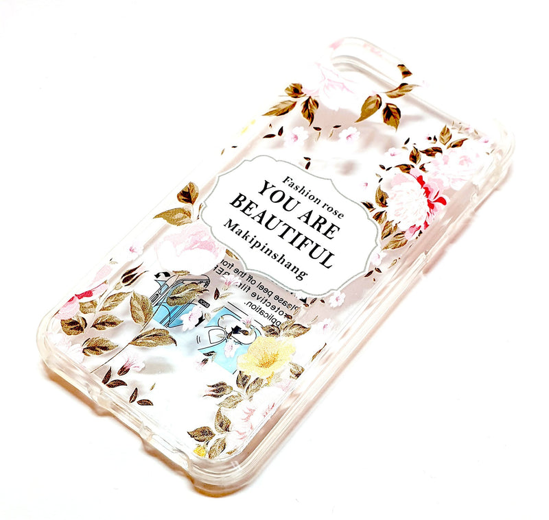 iPhone 6 6s 7 8 decorative clear transparent phone case you are beautiful
