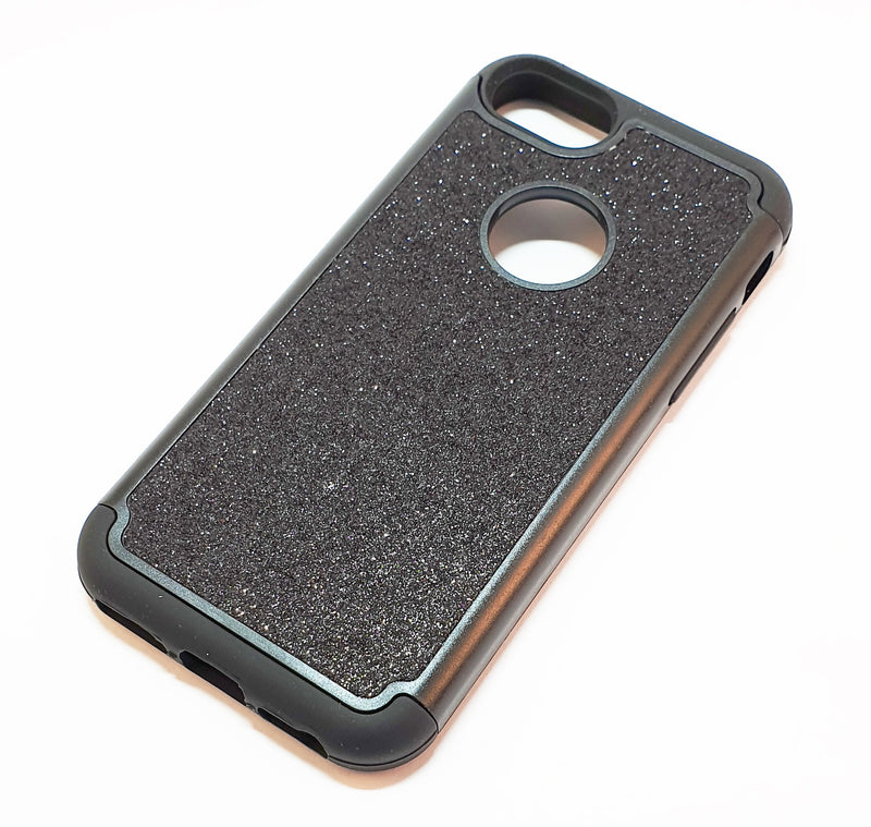 iPhone 6 6s 7 8 Shockproof black glitter phone case