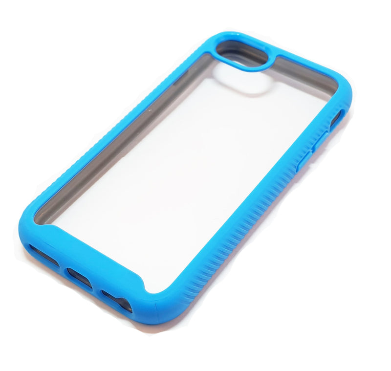 iPhone 6 6s 7 8 Shockproof blue clear transparent phone case