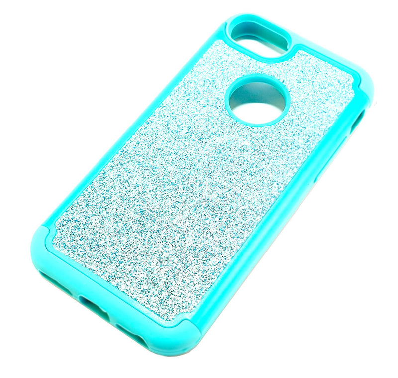 iPhone 6 6s 7 8 Shockproof light blue glitter phone case
