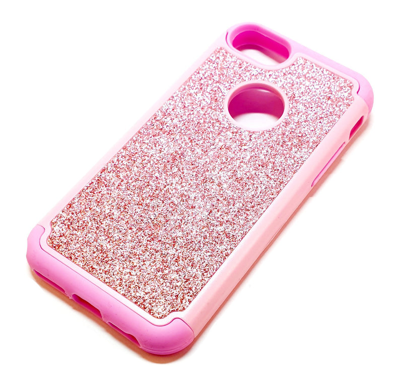 iPhone 6 6s 7 8 Shockproof pink glitter phone case