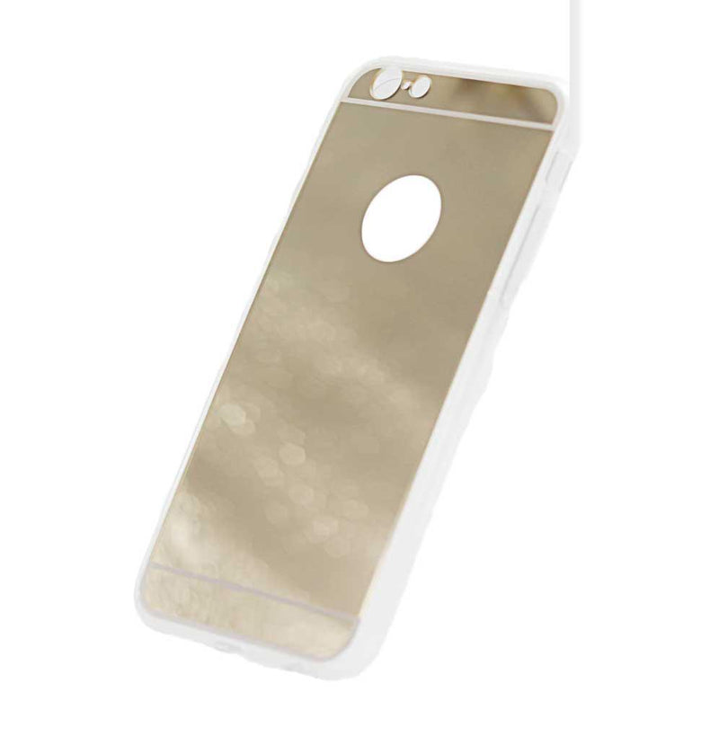 iphone 7 8 mirror phone case gold