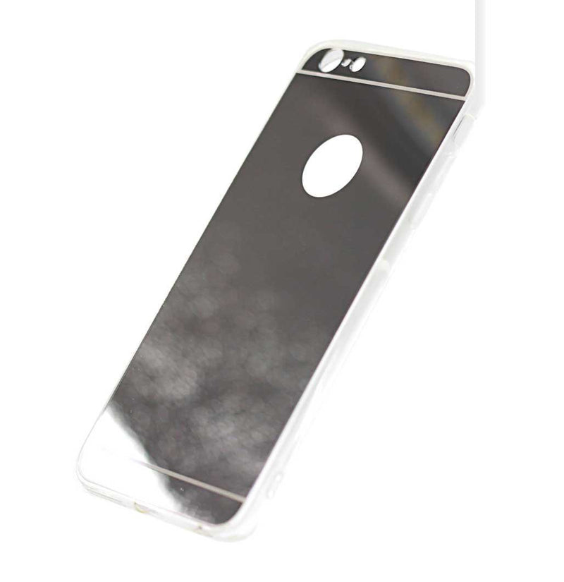 iphone 7 8 mirror phone case silver