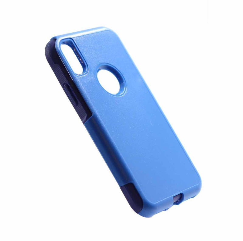 iphone X iphone XS commuter protective shockproof phone case dark blue