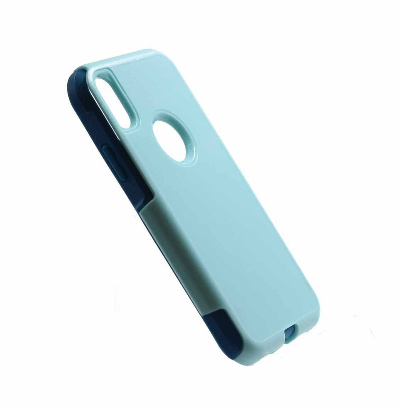 iphone X iphone XS commuter protective shockproof phone case light blue