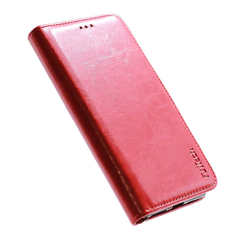 iphone X iphone XS leather wallet phone case red
