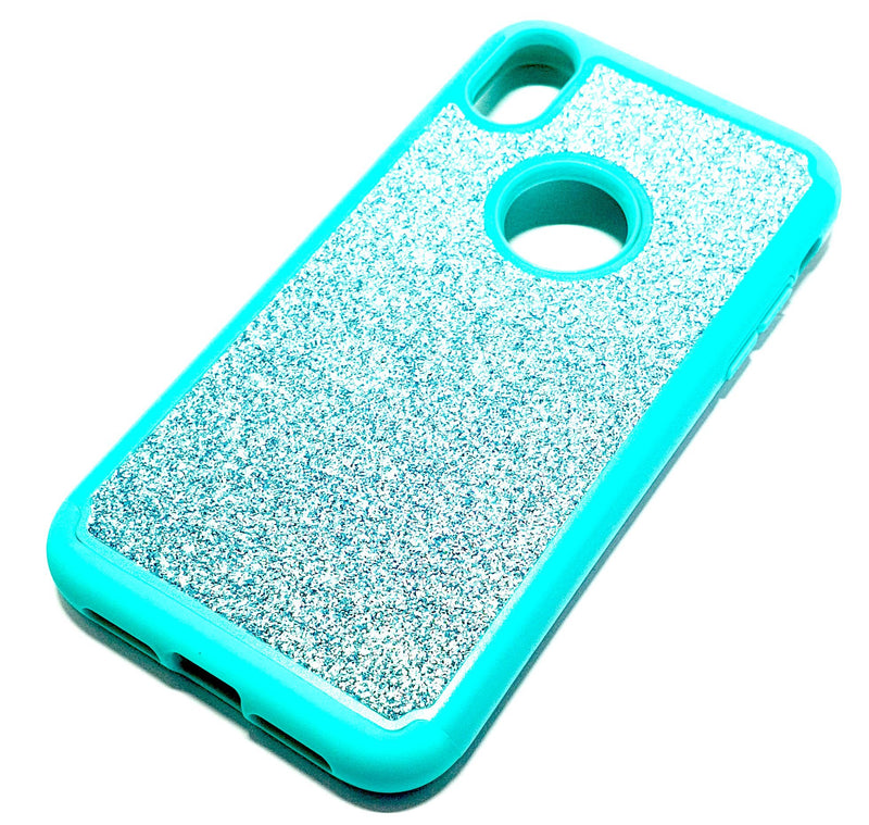iPhone XR Shockproof blue clear transparent phone case