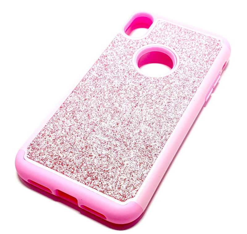 iPhone XR Shockproof pink glitter phone case