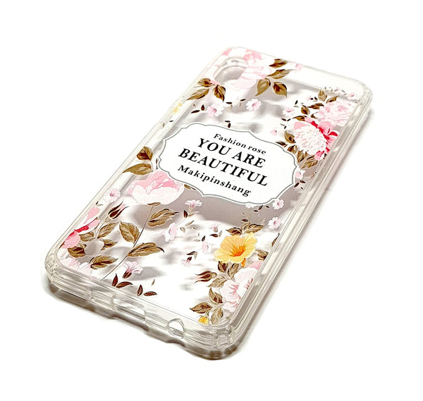 Samsung A10 decorative clear transparent phone case you are beautiful