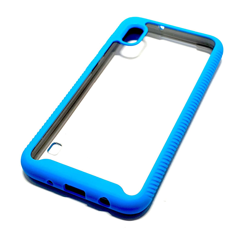 Samsung A10 Shockproof blue clear transparent phone case