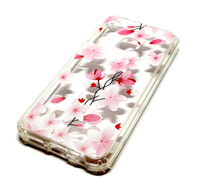 Samsung A20e decorative clear transparent phone case flowers