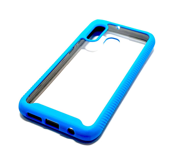 Samsung A20e Shockproof blue clear transparent phone case