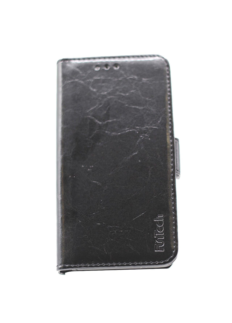 Samsung A3 2017 Leather Wallet Case Black
