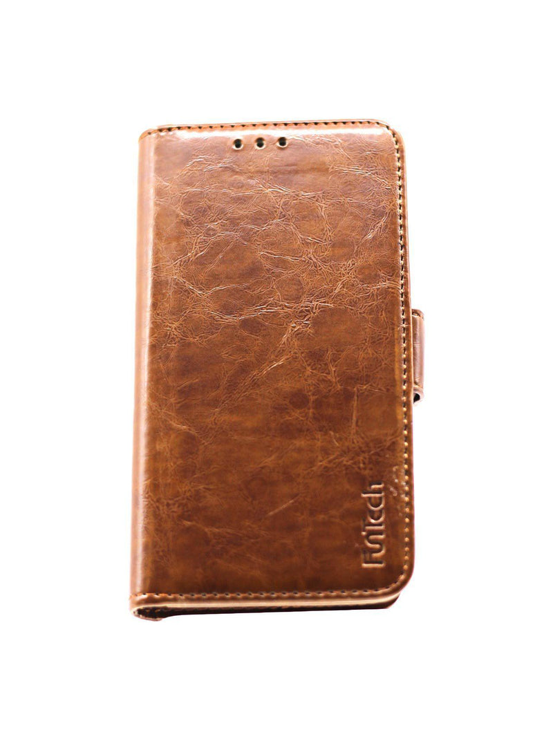 Samsung A3 2017 Leather Wallet Case Brown