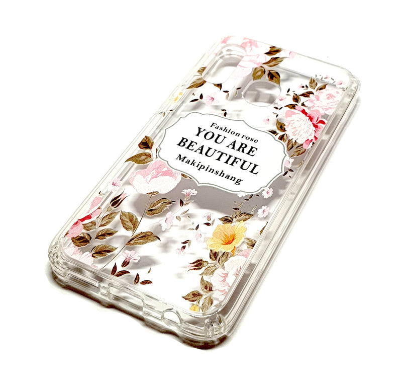 Samsung A40 decorative clear transparent phone case you are beautiful