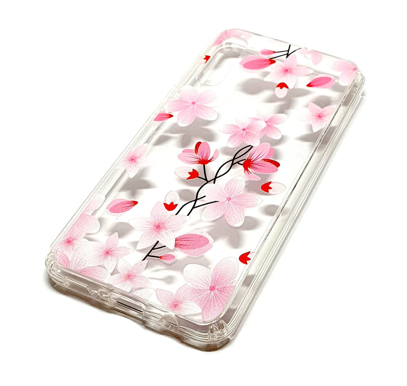 Samsung A50 decorative clear transparent phone case flowers