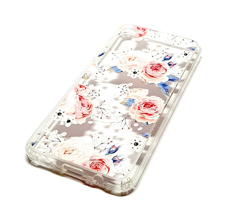 Samsung A50 decorative clear transparent phone case roses