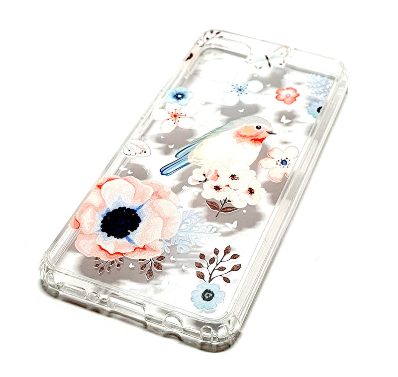 Samsung A51 decorative clear transparent phone case robin