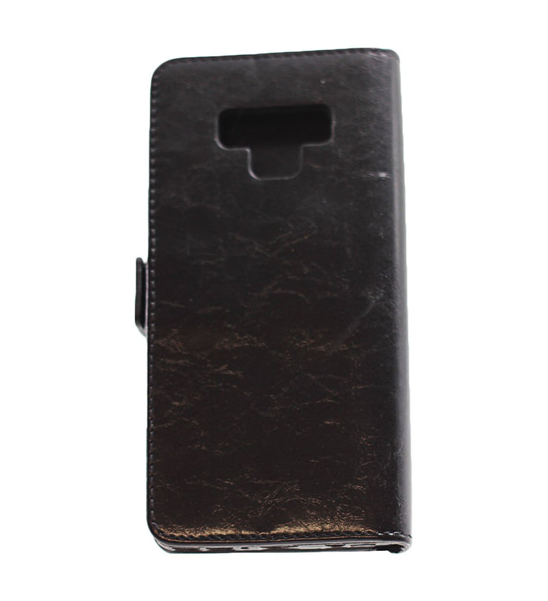 Samsung Note 9 Leather Wallet Case Black