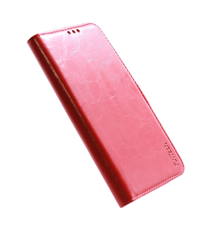 Samsung S10 Plus Leather Case Red