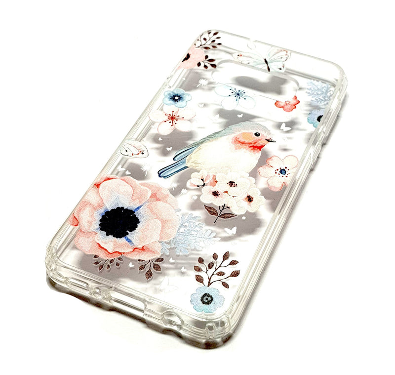 Samsung S10e decorative clear transparent phone case robin