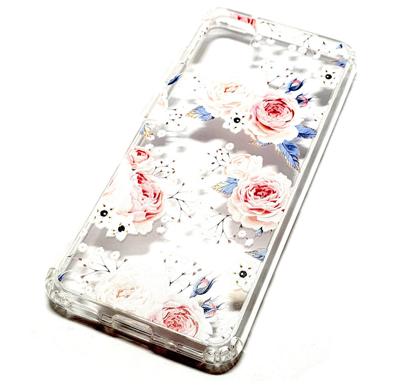 Samsung S20 decorative clear transparent phone case roses