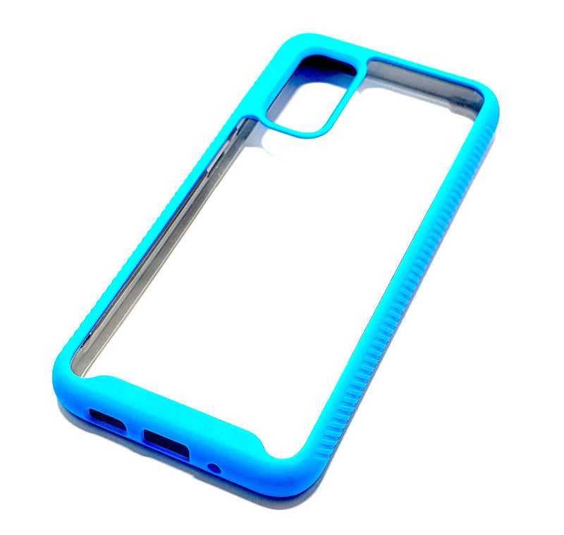 Samsung S20 Shockproof blue clear transparent phone case