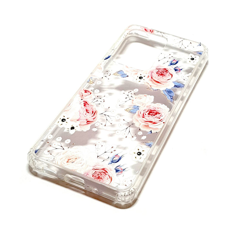 Samsung S20 Ultra decorative clear transparent phone case roses