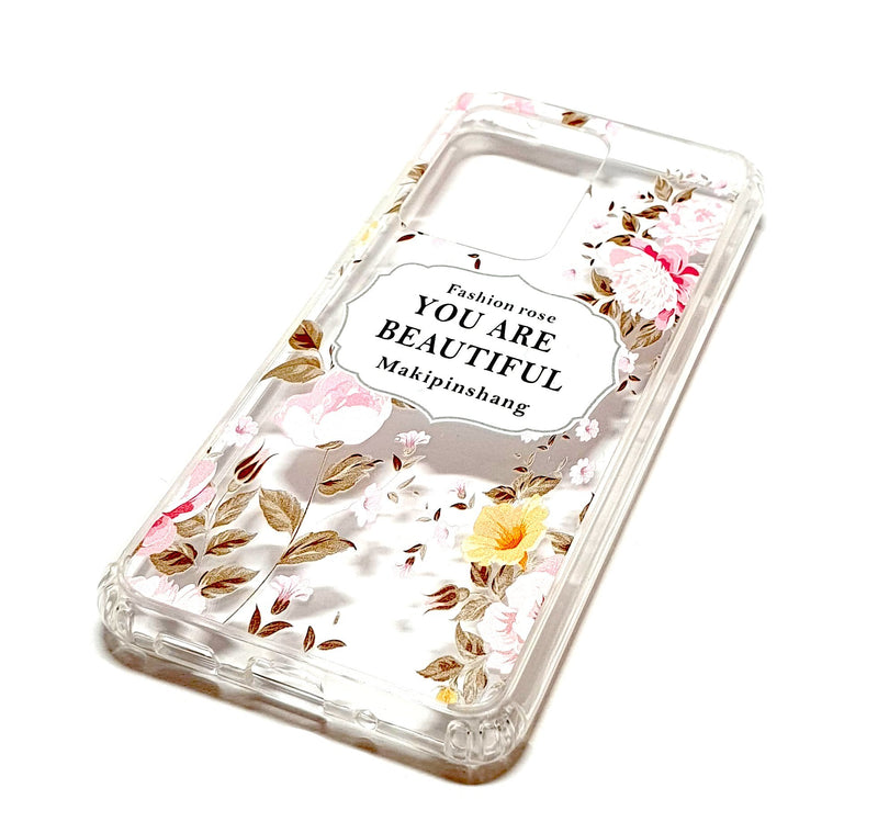 Samsung S20 Ultra decorative clear transparent phone case you are beautiful