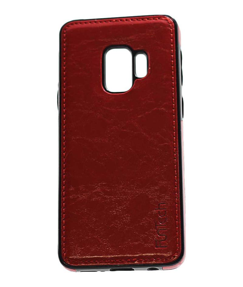 Samsung S9 Leather Back Cover Red
